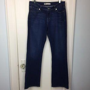 Levi's Curvy 529 Boot Cut Jeans (size 14L)